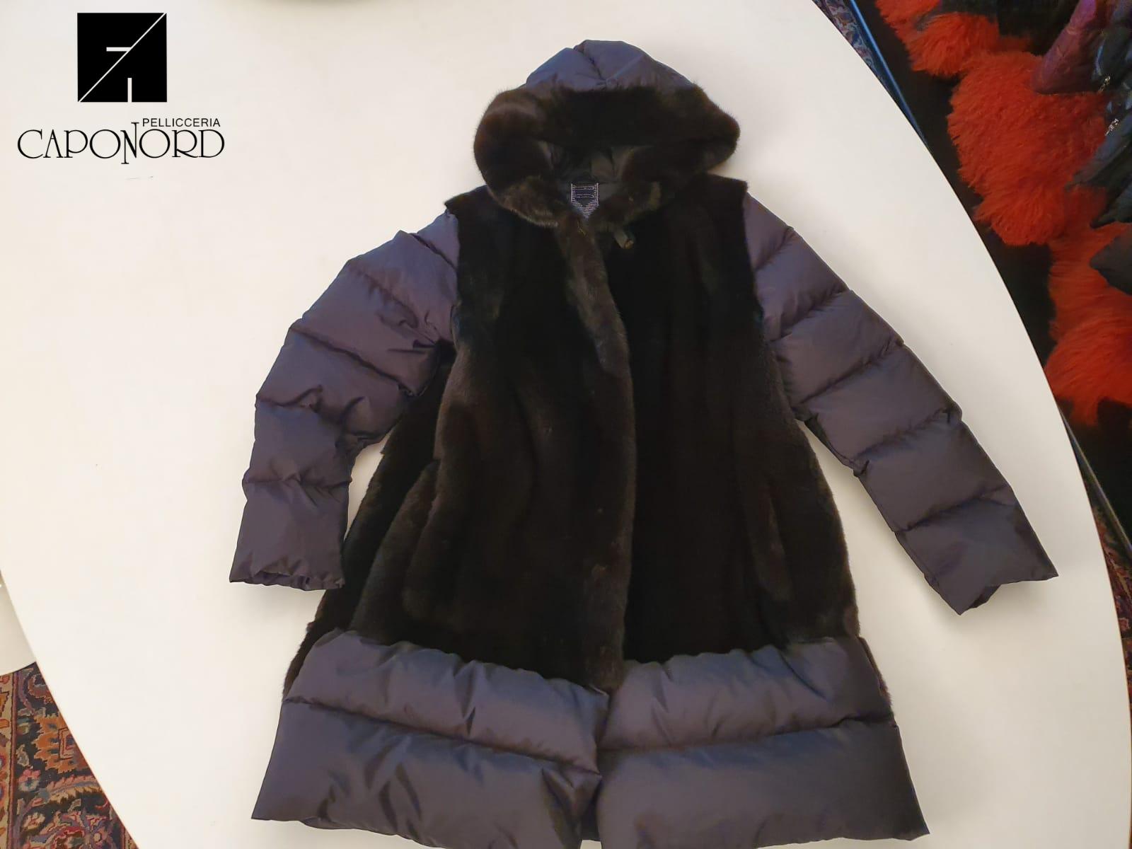 Cappottino visone black glama + piumino