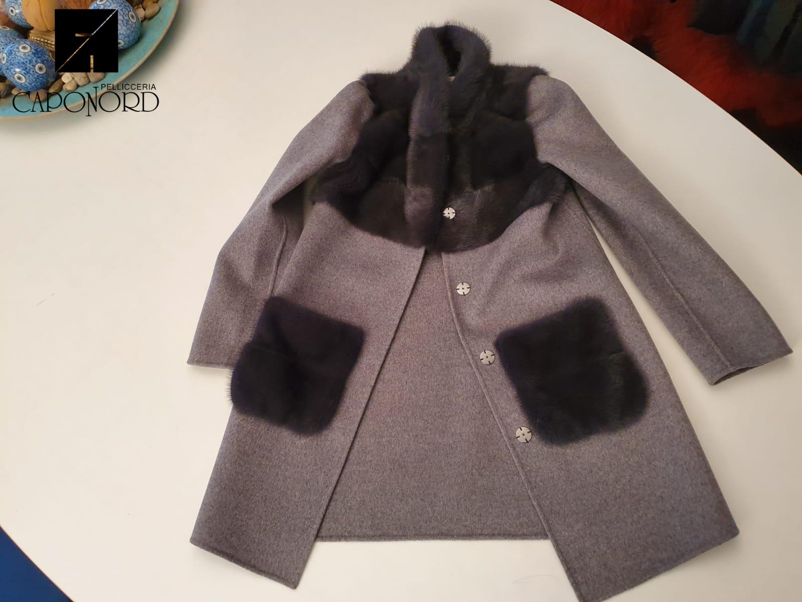 Bolero visone wool & cashemere gun metal