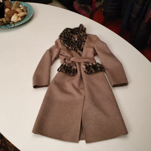 Cappotto wool&cashmere animalier-ginger